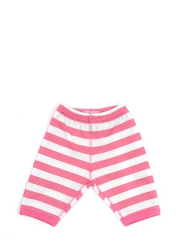 Bob and Blossom Bright Pink & White Striped Trousers