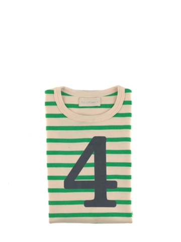 Bob and Blossom Gooseberry & Cream Breton Striped Number 4 T Shirt