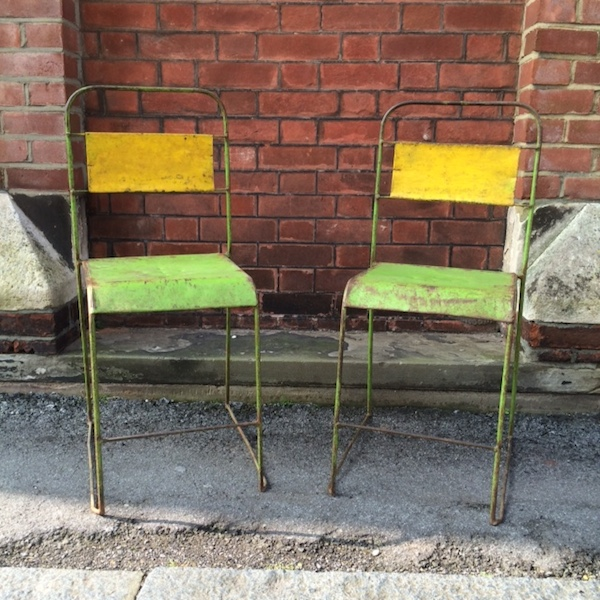 Vintage Metal Dining Chairs - Set of 4