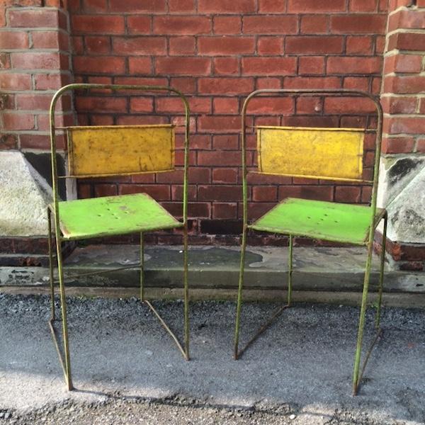 Vintage Metal Dining Chairs - Set of 4