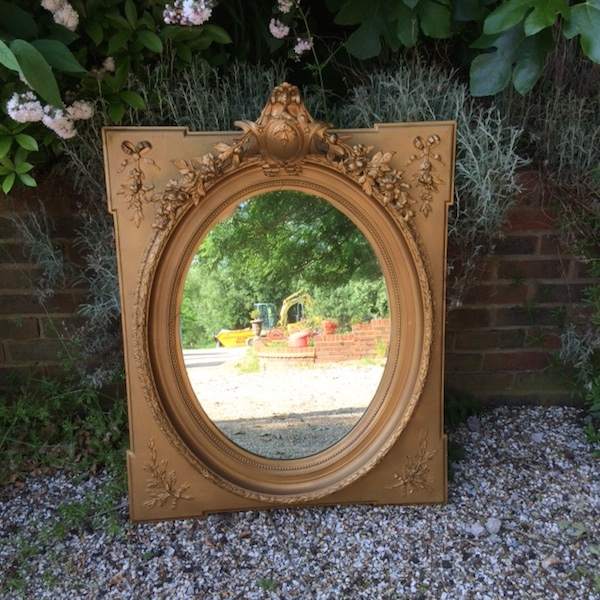 Antique Ornate French Mirror