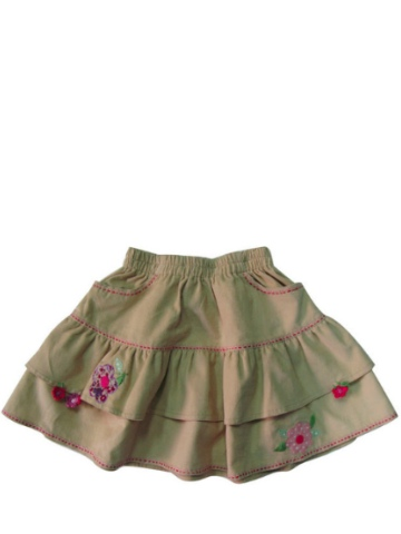 Albetta Cord Embroidered Skirt