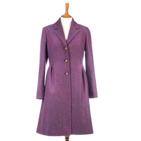 Avoca Mystic Dress Coat  - Blueberry