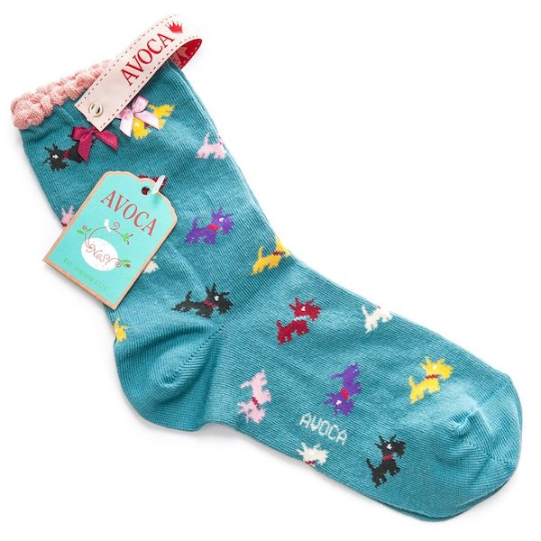Avoca Scottie Ankle Socks - Blue