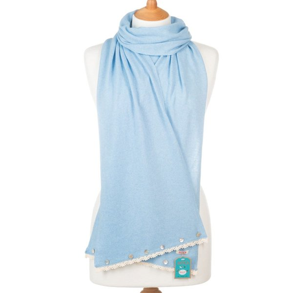 Avoca Buttons Scarf - Boy Blue