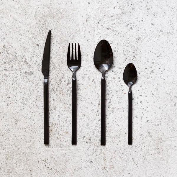 Broste Black Boxed 16pc Cutlery Set