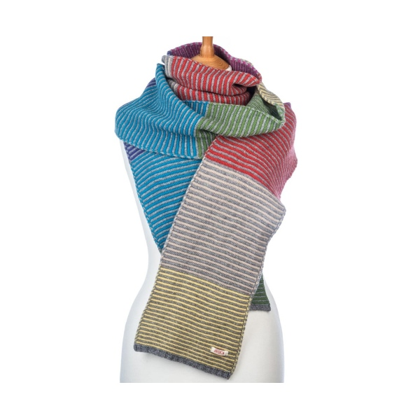 Avoca Clonakilty Multicoloured Stripe Scarf
