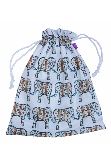 Patchwork Elephant Drawstring Bag