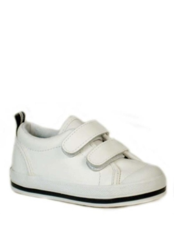 Keds Graham Hook and Loop - White Leather