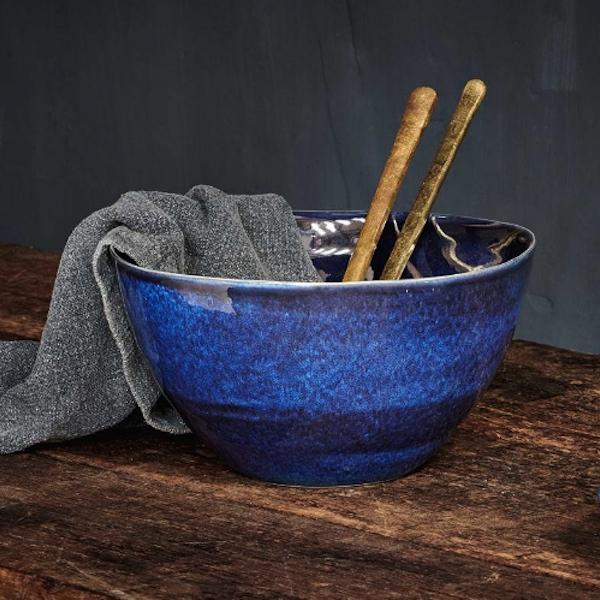 Dana Serving Bowl - Indigo Blue