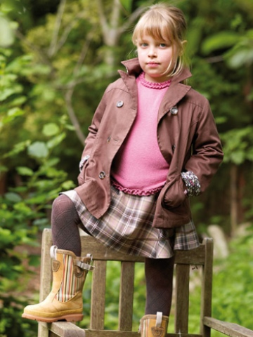 Little Legend Brown Cotton Peacoat