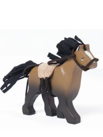 Le Toy Van Budkins Brown Horse with Saddle