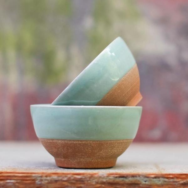 Nkuku Mali Ceramic Seagreen Bowl