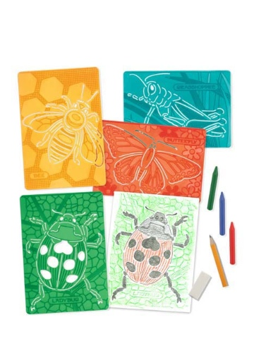 Melissa & Doug Textured Stencils - Insects