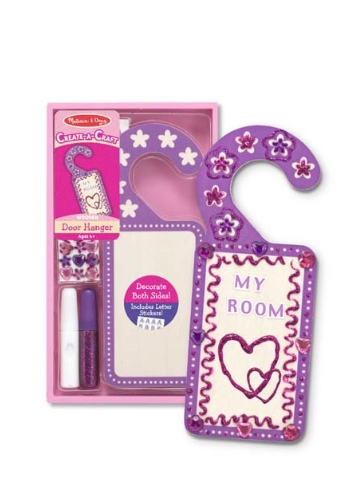 Melissa & Doug Decorate-Your-Own Door Hanger - Purple