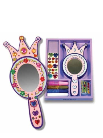 Melissa & Doug Decorate-Your-Own Wooden Princess Mirror