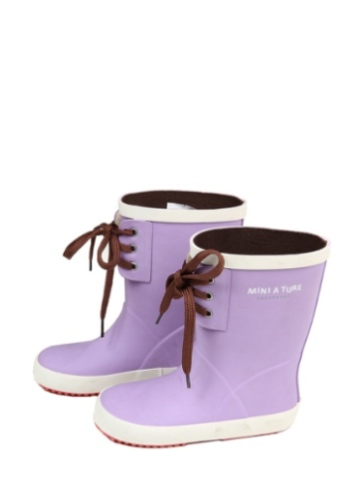 Mini a Ture Jerry Lace Wellies - Purple Sage