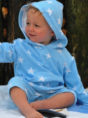 Mitty James Beach Romper Suit - Sky Blue