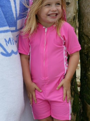 Mitty James Bubblegum Pink All In One UPF Suit