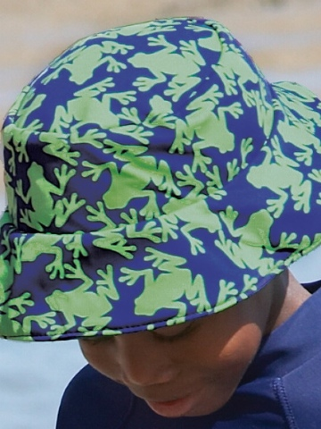 Mitty James Green Frog/Navy Reversible Hat