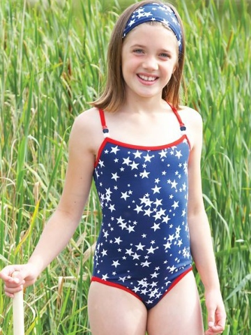 Mitty James Navy Starburst Classic Swimsuit