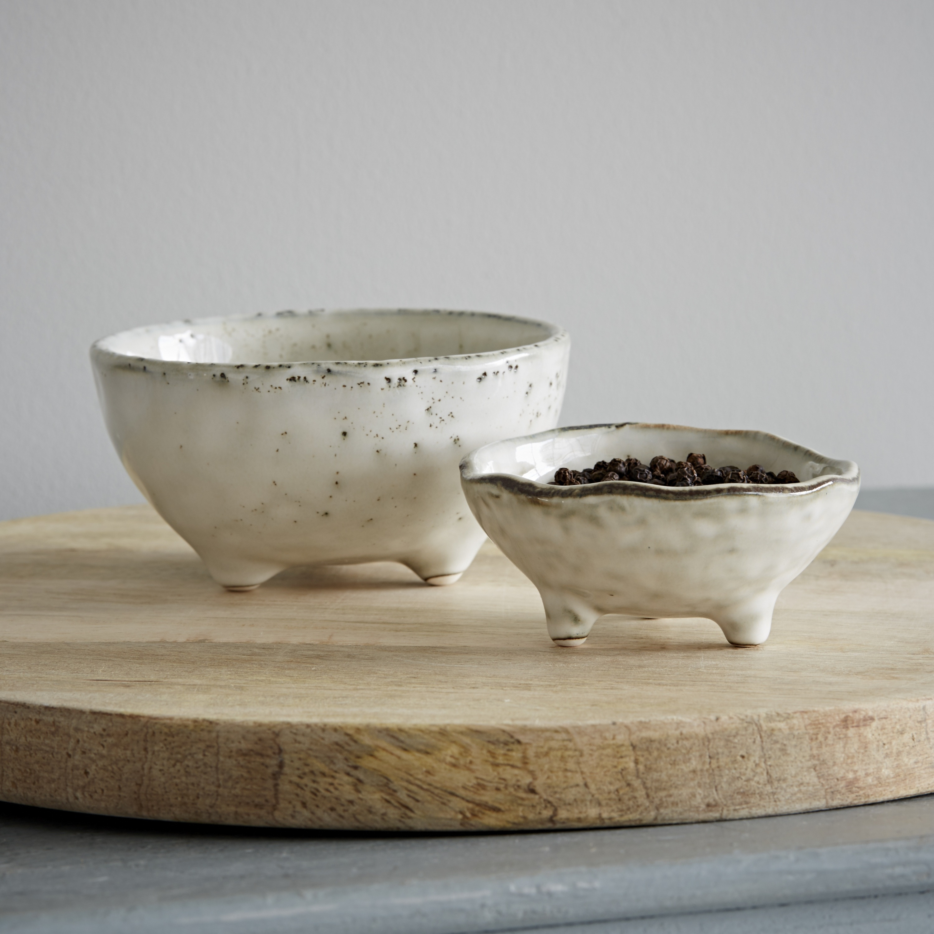 Broste Nordic Sand Dipping Bowls