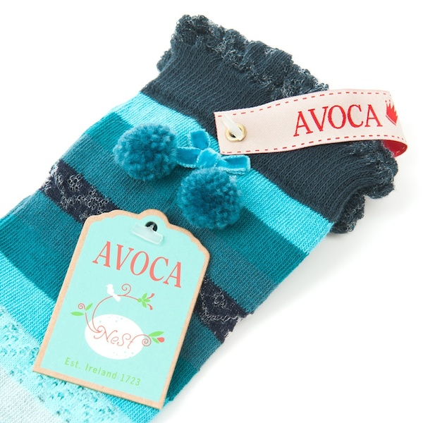Avoca Pointelle Knee Socks - Turquoise