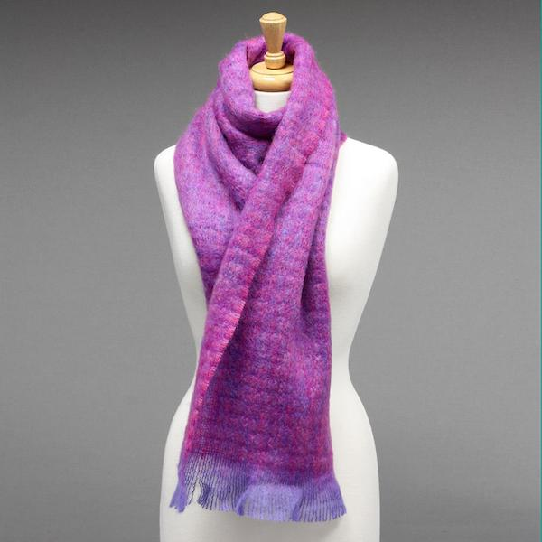 Avoca Purple Mohair Scarf