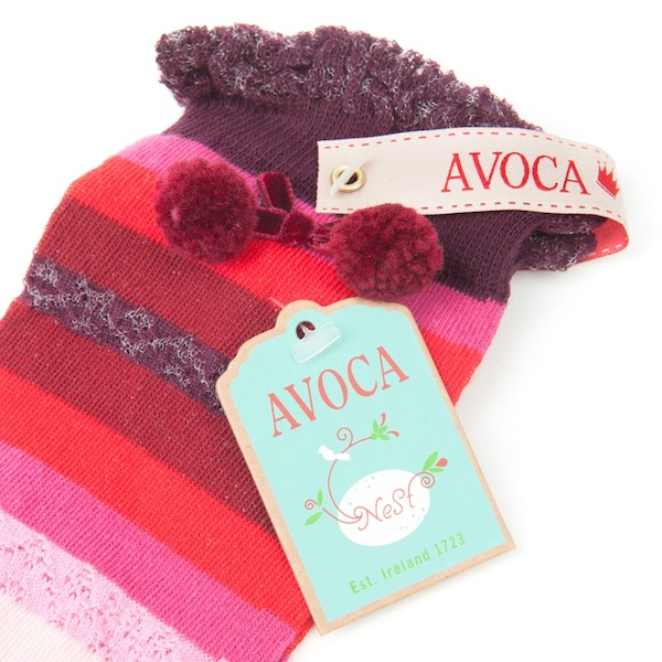 Avoca Pointelle Knee Socks - Red