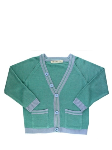 Lille Barn Bamboo V-neck Cardigan - Green