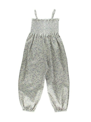 Lille Barn Ditzy Print Smocked Jumpsuit - Beige