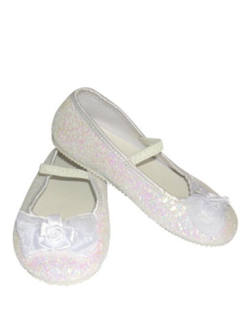 White Glitter Party Shoes