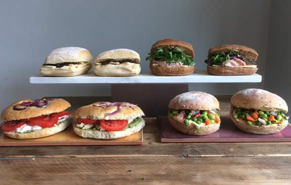 Artisan sandwiches from Barley Sugar